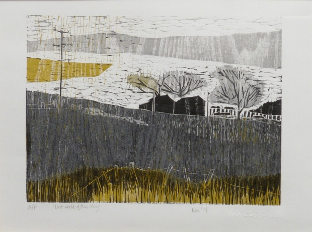Anita Burrows Last Walk of the Dayunframed